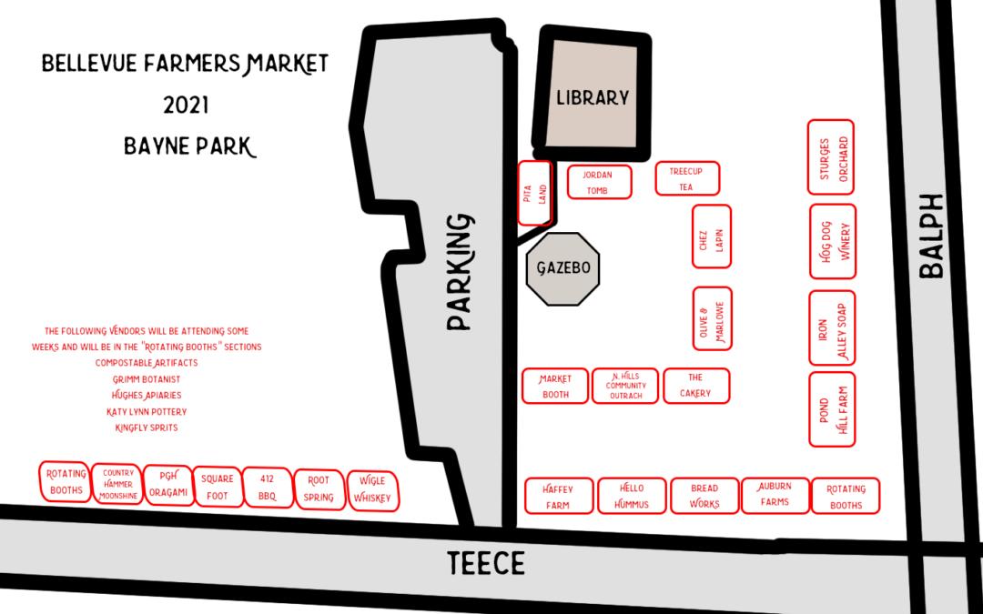 Bellevue Farmers Market 2021 Map